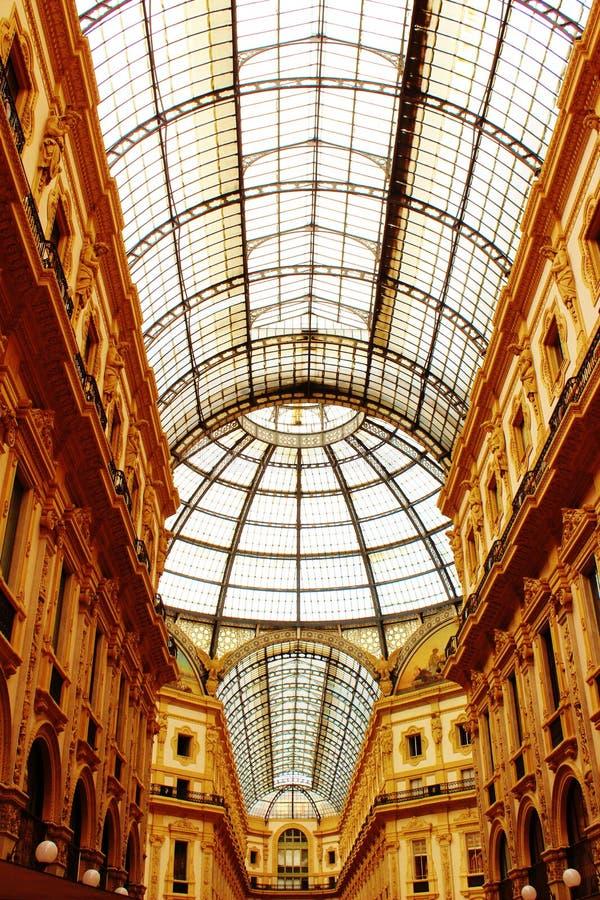 Galleria Vittorio Emanuele, Milaan stock foto's
