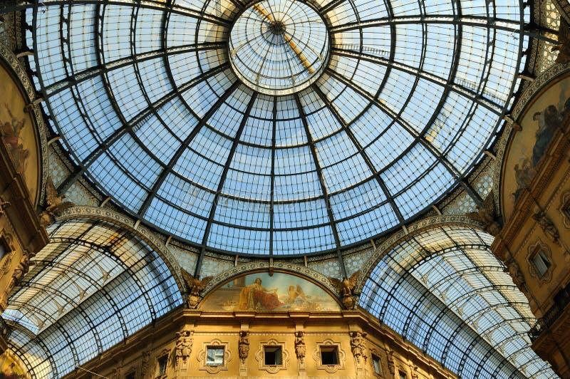 Galleria Vittorio Emanuele a Milano, Italia fotografia stock libera da diritti