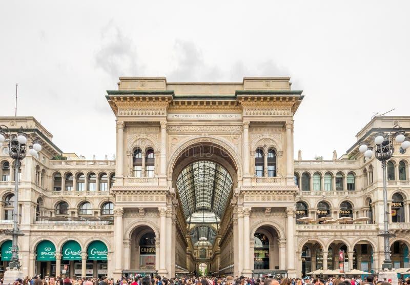 Galleria Vittorio Emmanuel στο Μιλάνο, Ιταλία στοκ εικόνες με δικαίωμα ελεύθερης χρήσης