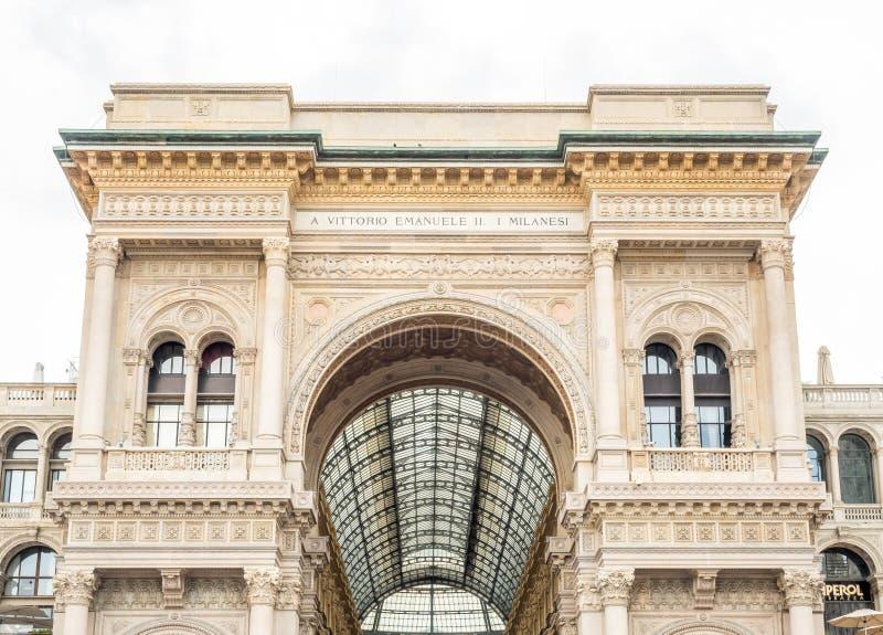 Galleria Vittorio Emmanuel στο Μιλάνο, Ιταλία στοκ φωτογραφία