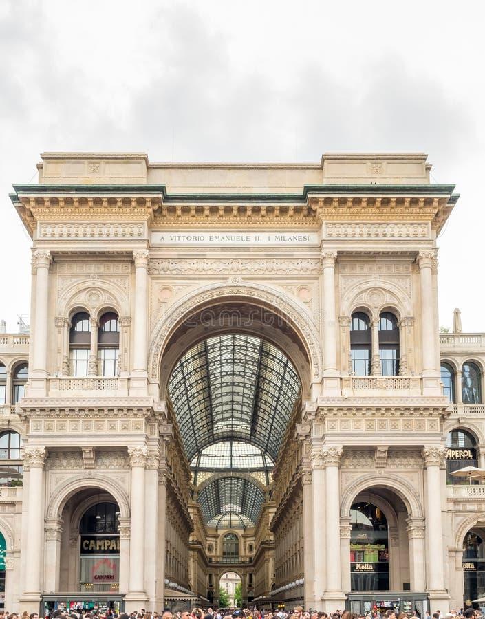 Galleria Vittorio Emmanuel στο Μιλάνο, Ιταλία στοκ φωτογραφίες