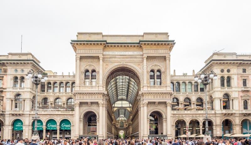 Galleria Vittorio Emmanuel στο Μιλάνο, Ιταλία στοκ φωτογραφίες με δικαίωμα ελεύθερης χρήσης