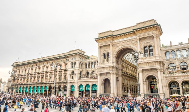 Galleria Vittorio Emmanuel στο Μιλάνο, Ιταλία στοκ εικόνα με δικαίωμα ελεύθερης χρήσης