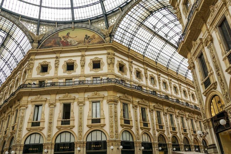 Galleria Vittorio Emmanuele ΙΙ στοκ εικόνα