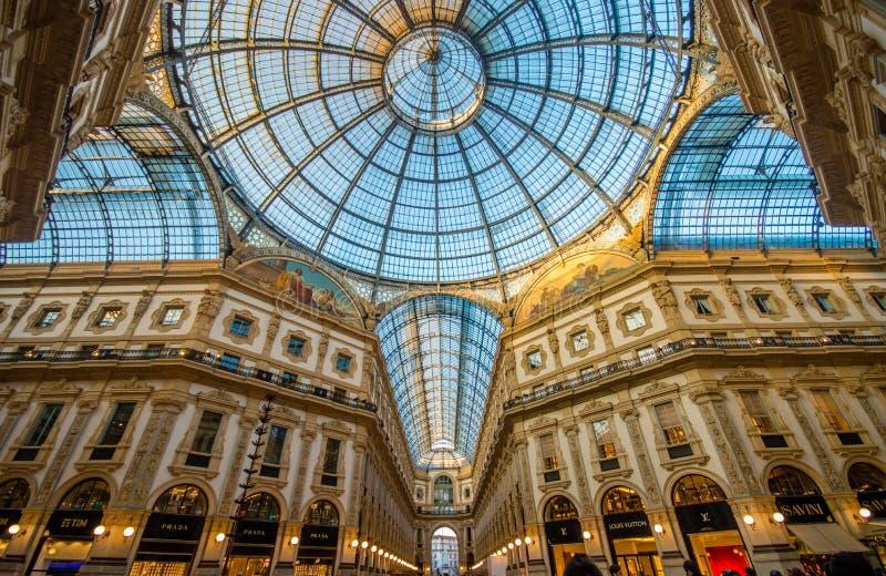 Galleria Vittorio Manuel fotografía de archivo libre de regalías