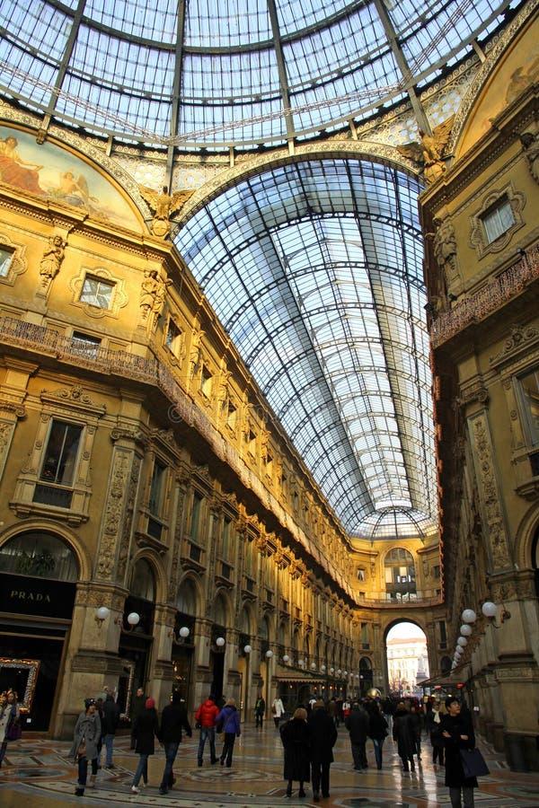 Galleria Vittorio Manuel en Milano, Italia imágenes de archivo libres de regalías