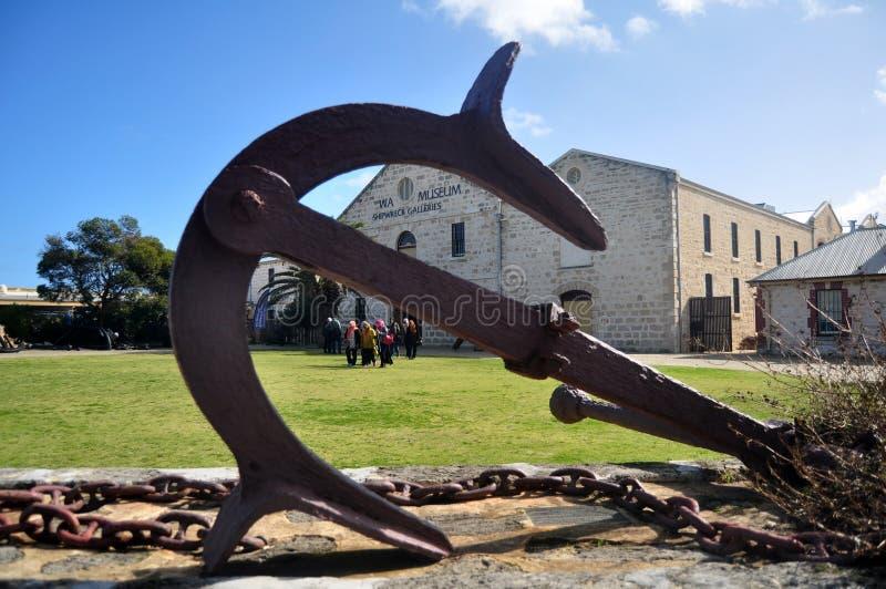 Gallerie del naufragio del museo di Wa su Cliff Street a città portuale di Fremantle a Perth, Australia fotografie stock libere da diritti