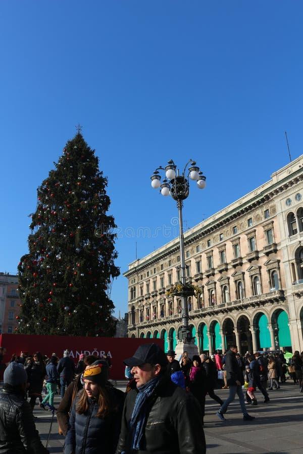 Gallerie Vittorio Emanuele, Milan royaltyfria bilder
