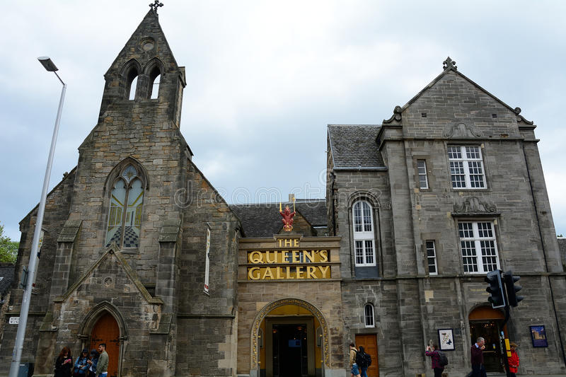 Gallerit för drottning` s, Edinburg, Skottland royaltyfri foto