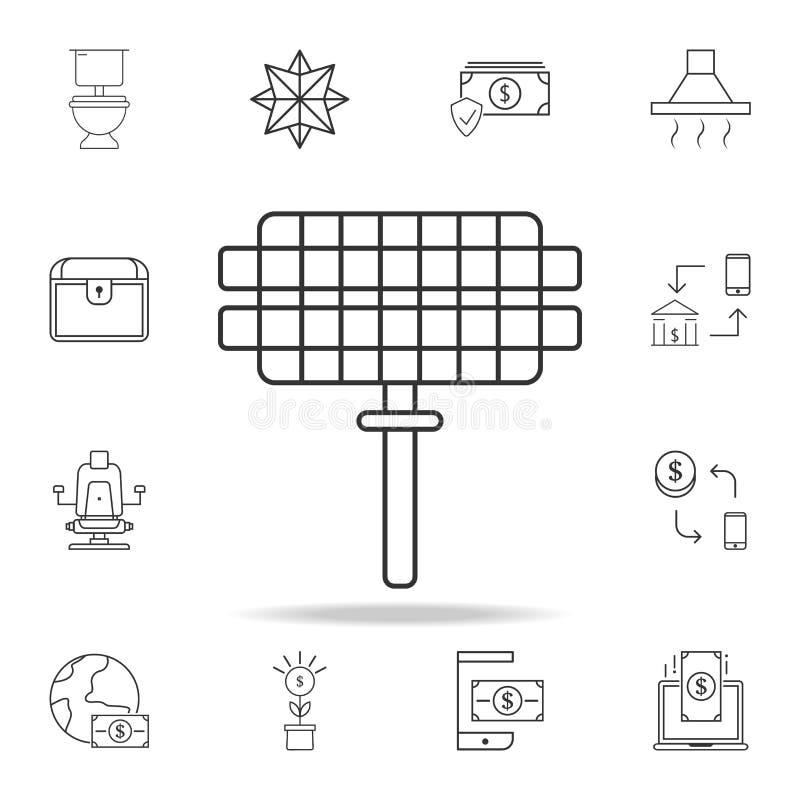Gallerrastersymbol Detaljerad uppsättning av rengöringsduksymboler och tecken Högvärdig grafisk design En av samlingssymbolerna f vektor illustrationer