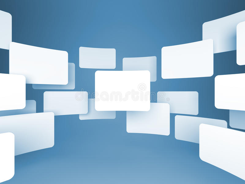 Gallery of Blank Images. stock illustration