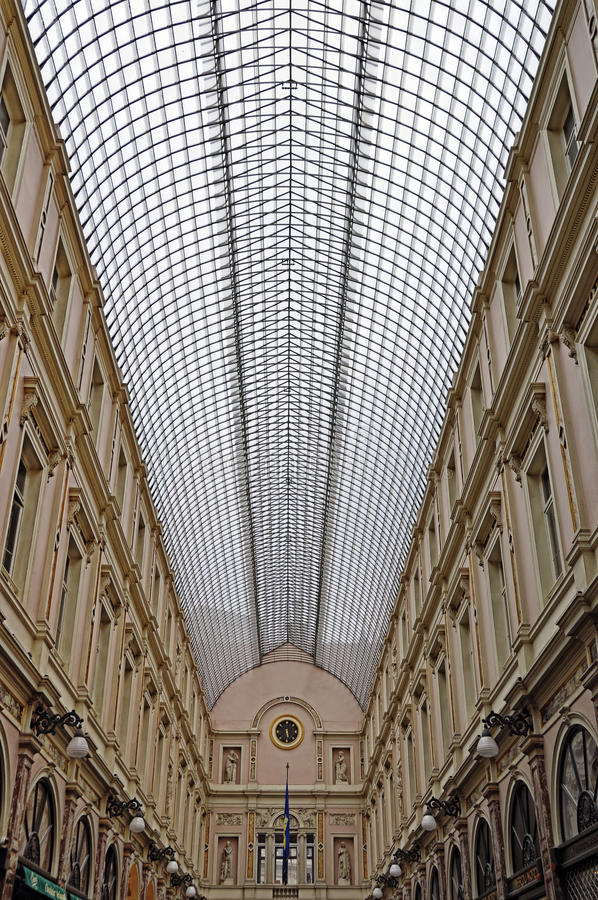 Gallery in Brussels royalty free stock photography