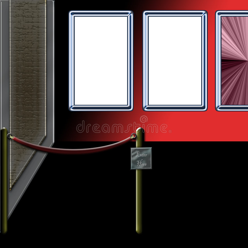 Download Gallery Entry stock illustration. Illustration of display - 397790