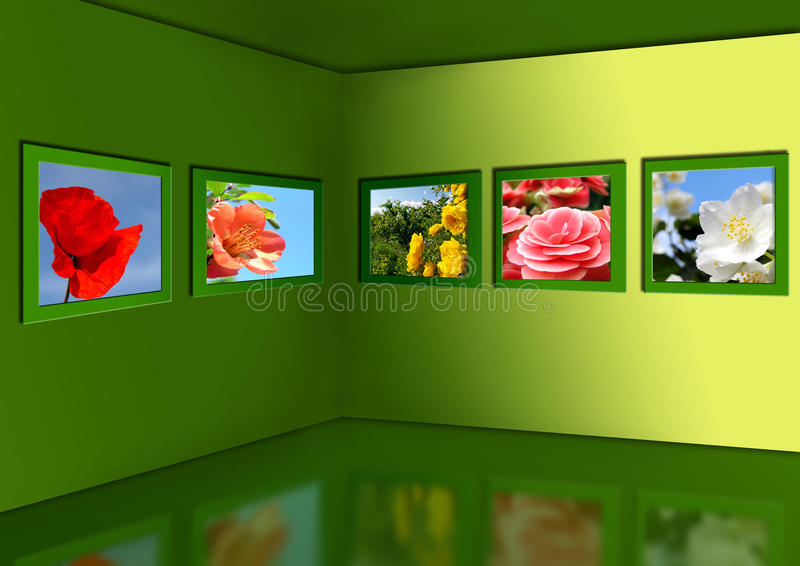 Download Gallery of flowers. stock illustration. Illustration of blue - 15397440
