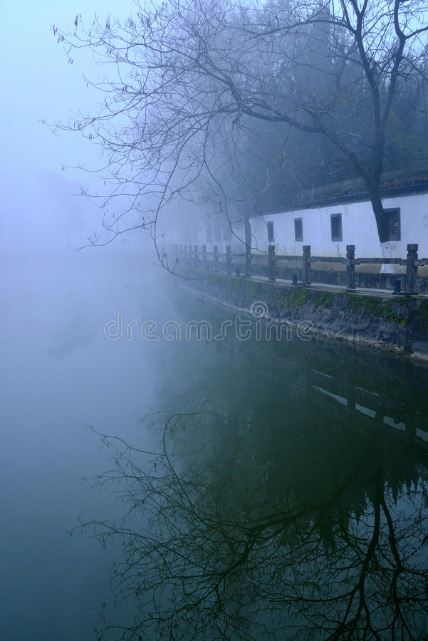 Ancient Gallery in the fog