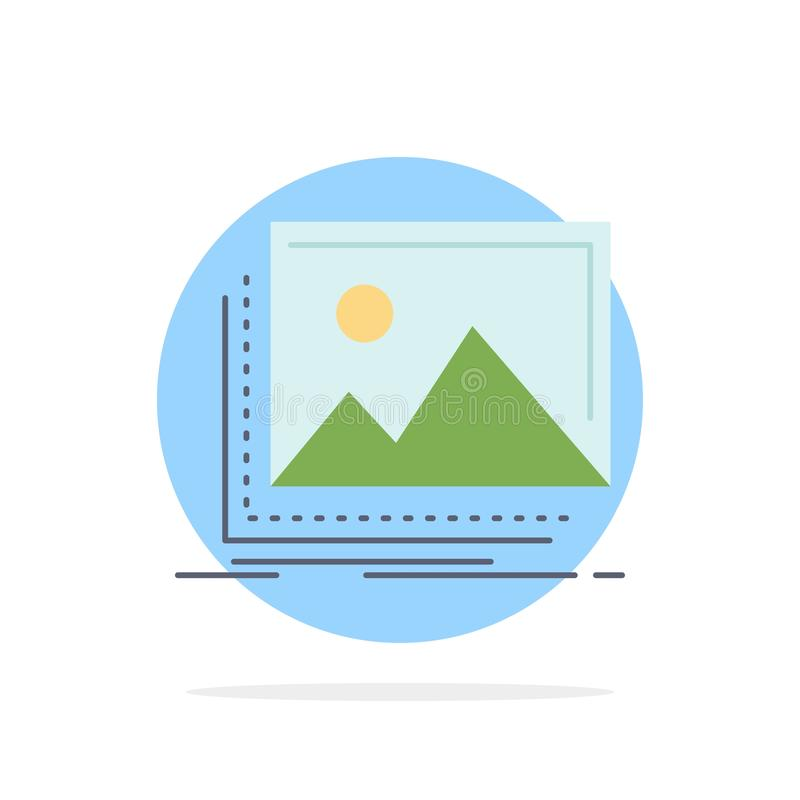 Gallery, image, landscape, nature, photo Flat Color Icon Vector vector illustration