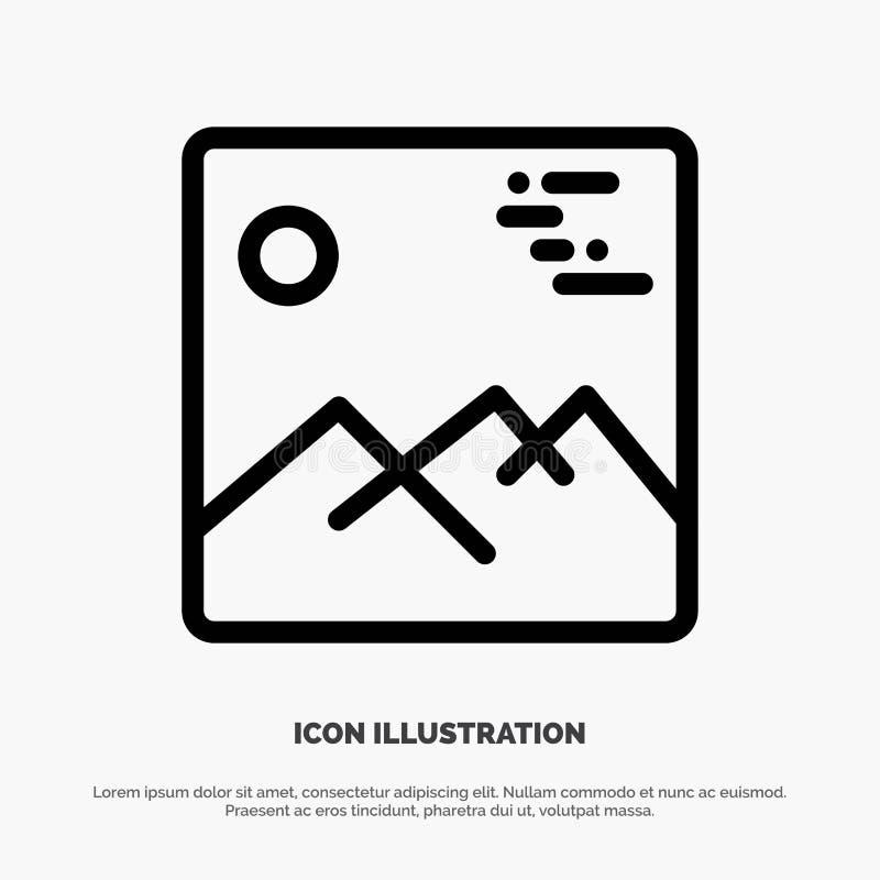 Gallery, Image, Picture, Canada Line Icon Vector vector illustration