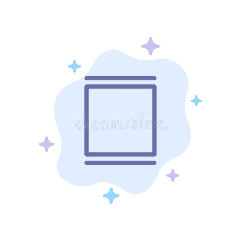 Gallery, Instagram, Sets, Timeline Blue Icon on Abstract Cloud Background stock illustration