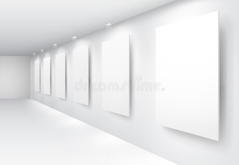 Gallery Interior stock illustration