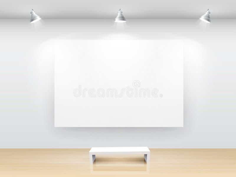 Download Gallery Interior stock vector. Image of exhibit, design - 19056831