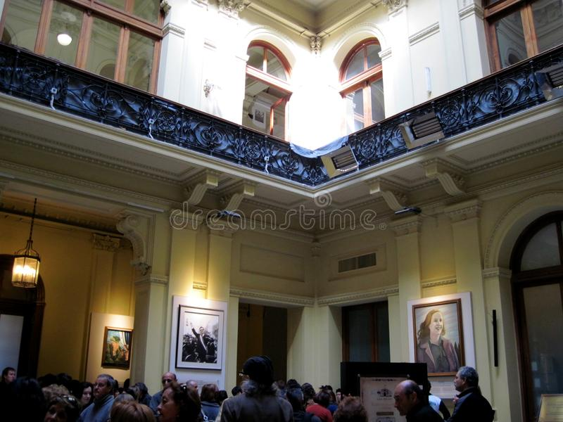Gallery of the Latin American Patriots of the Bicentennial, located on the ground floor of the palace of the Casa Rosada. Buenos Aires Argentina stock photography