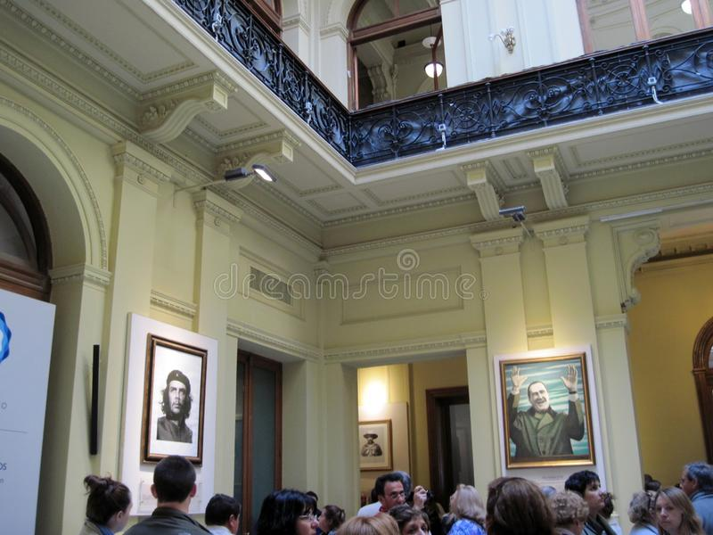 Gallery of the Latin American Patriots of the Bicentennial, located on the ground floor of the palace of the Casa Rosada. Buenos Aires Argentina royalty free stock photography