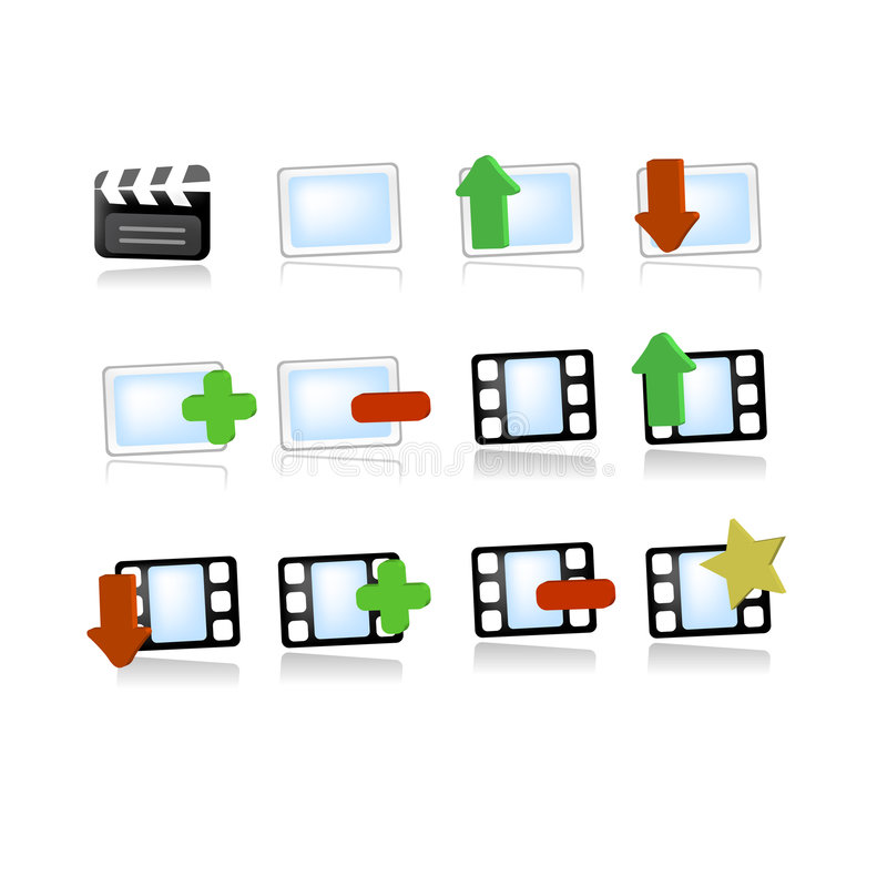 Free Gallery Media Video Icons Royalty Free Stock Photography - 7497327