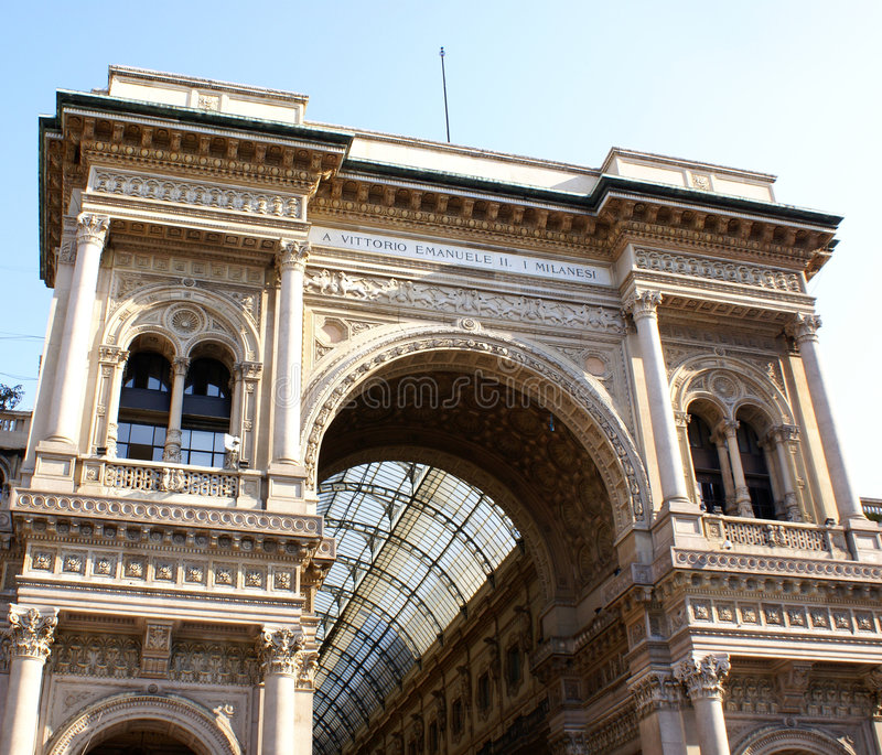 The gallery in milano stock photo