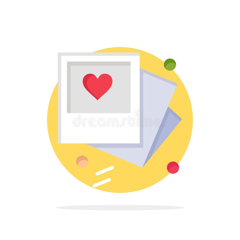 Gallery, Photo, Love, Wedding Abstract Circle Background Flat color Icon royalty free illustration