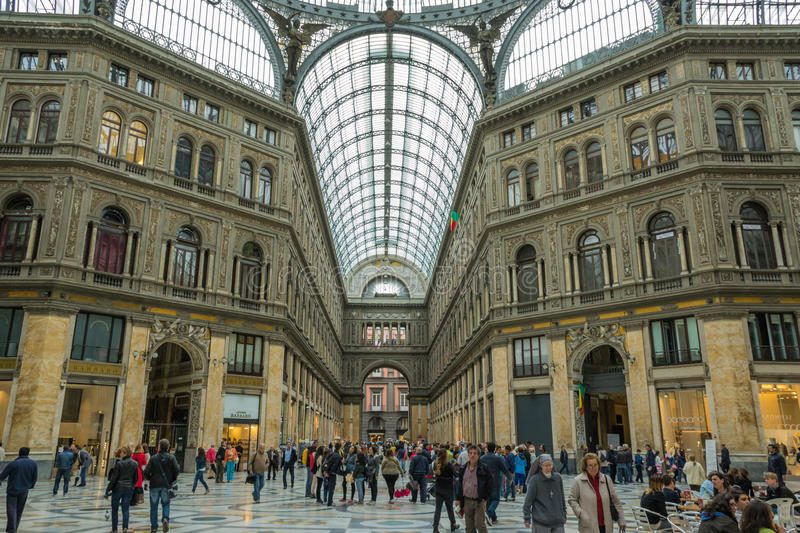 Gallery Umberto People Shopping Naples Italy Editorial