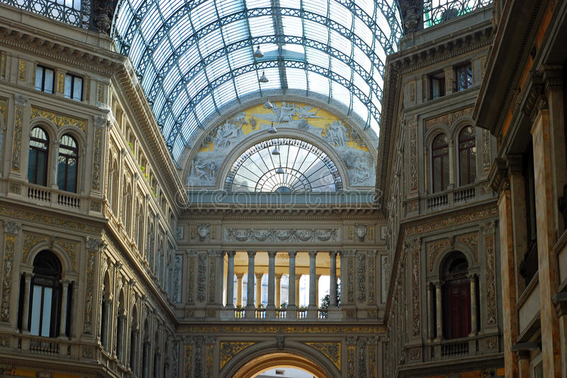 Gallery Umberto Uno in Naples royalty free stock photography