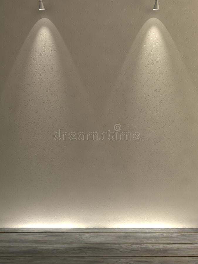 Download Gallery wall stock illustration. Image of light, simple - 15853106