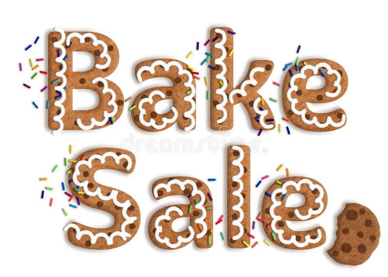 Galleta aislada Art Bake Sale Graphic foto de archivo libre de regalías