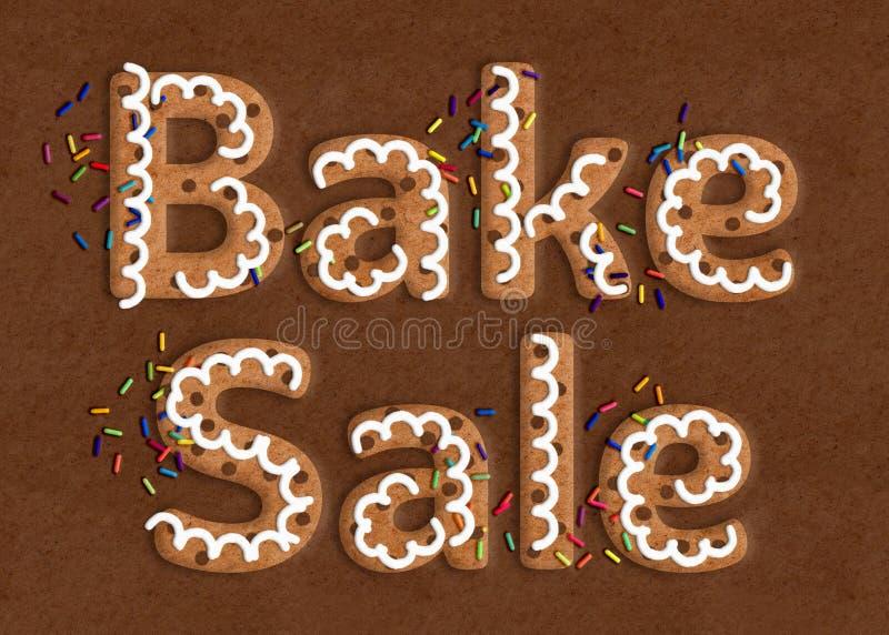 Galleta Art Bake Sale Graphic imagen de archivo libre de regalías