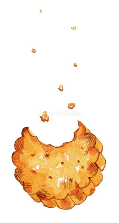 Galleta curruscante stock de ilustración