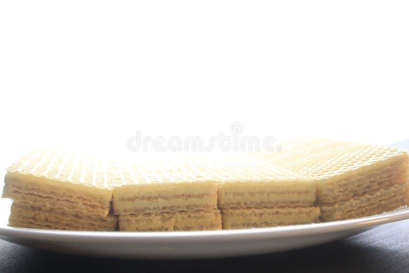 Galleta de la oblea fotografía de archivo