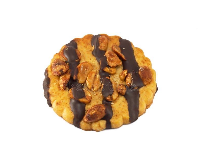 Galleta de viruta de chocolate con los cacahuetes foto de archivo libre de regalías