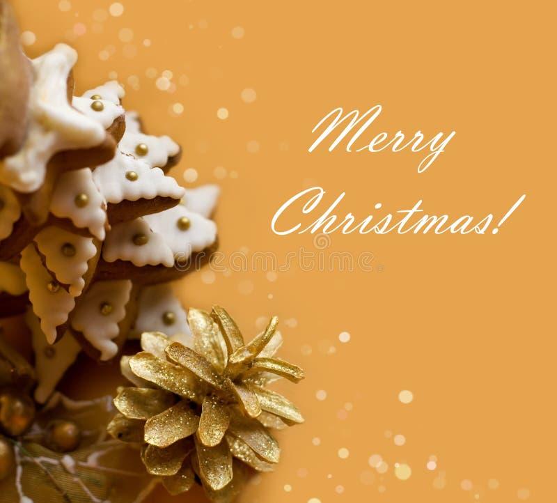 Galleta del árbol de navidad fotos de archivo