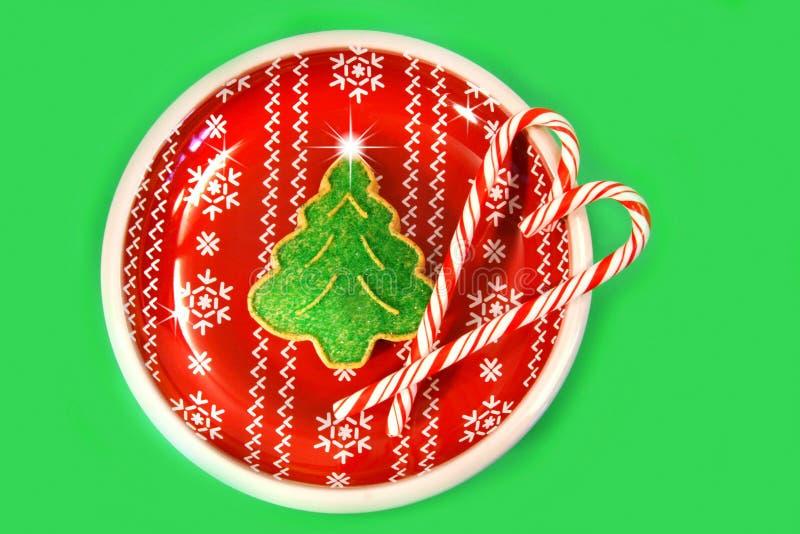Galleta del árbol de navidad foto de archivo
