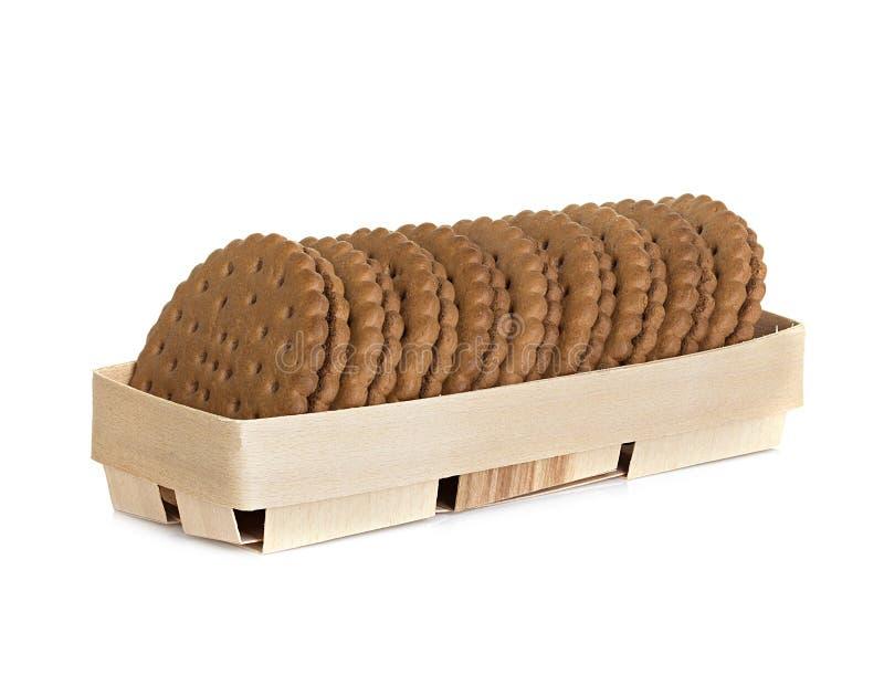 Galleta del chocolate aislada en blanco foto de archivo libre de regalías