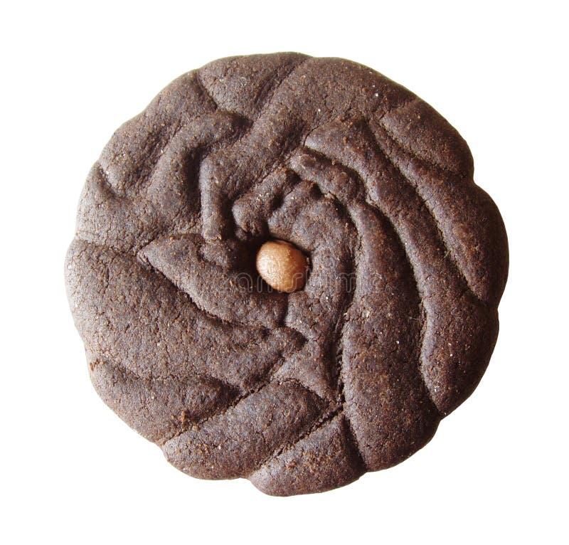 Galleta del dulce de azúcar de chocolate foto de archivo