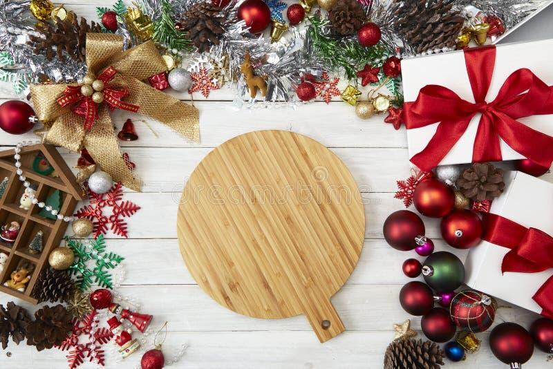 Galleta 2019 del fondo de la Navidad del Año Nuevo fotografía de archivo libre de regalías