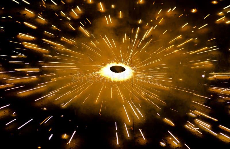 Galleta del fuego en la noche fotografía de archivo libre de regalías