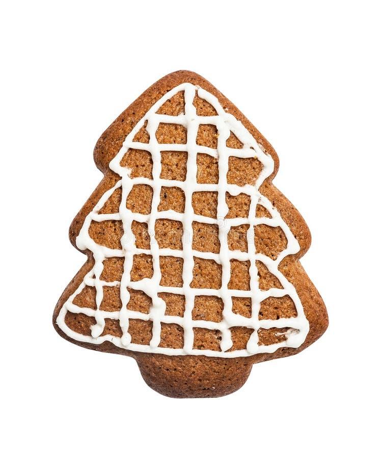 Galleta del pan de jengibre hecha en la forma de un árbol de navidad imagen de archivo libre de regalías