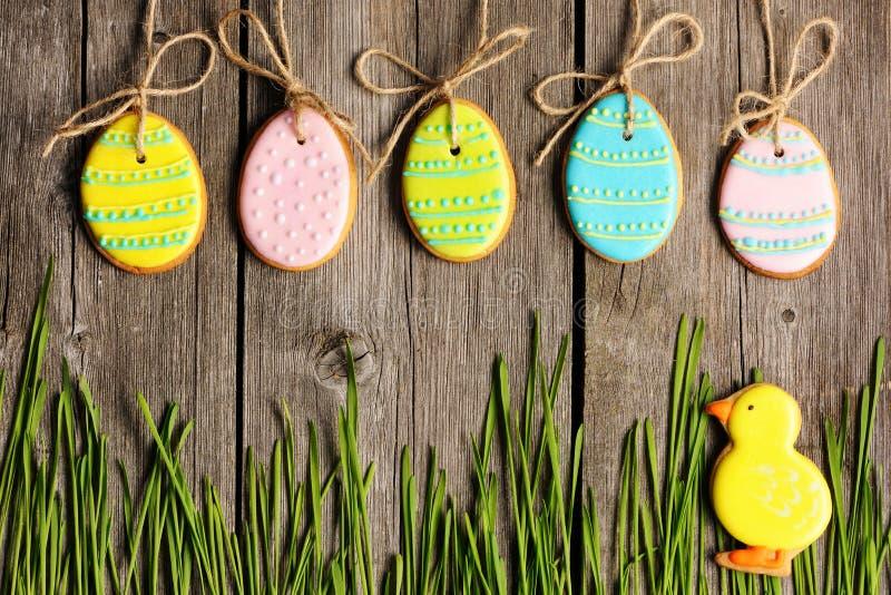 Galleta hecha en casa del pan de jengibre de Pascua imagen de archivo libre de regalías