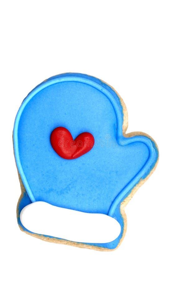 Galleta - mitón azul foto de archivo