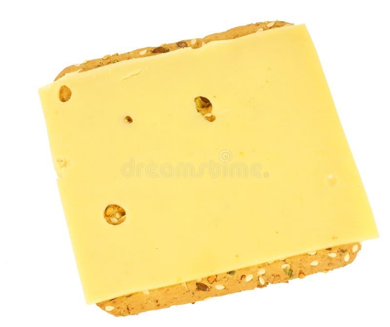 Galleta sana con queso imagen de archivo libre de regalías