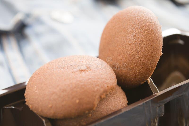 Galleta seca del chocolate foto de archivo