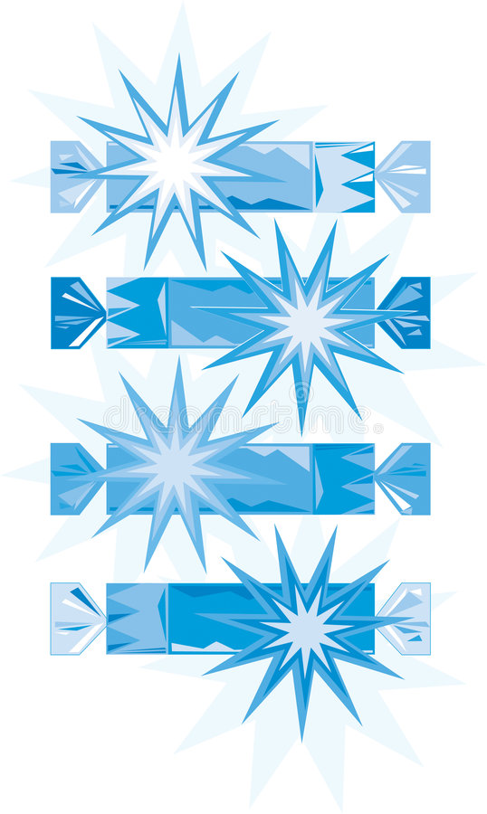 galletas Azul-blancas de la Navidad (vector) fotos de archivo