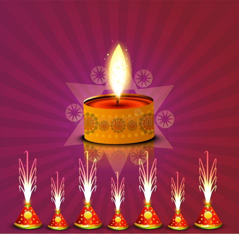 Galletas coloridas de la celebración del diya hermoso del diwali del vector libre illustration